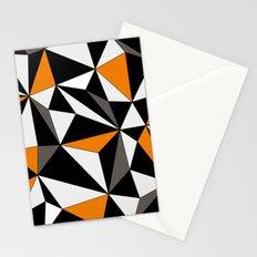 Geo - orange, gray, black and white. Stationery Cards