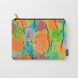 Abstract Bright Colorful Spring Flowers Carry-All Pouch