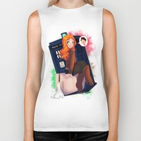 amy pond Biker Tanks featuring Doctor Who - Amy Pond by Lucy Fidelis