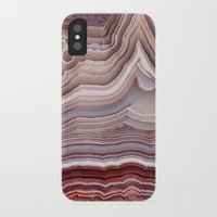agate iPhone & iPod Cases featuring Agate Crystal by Santo Sagese