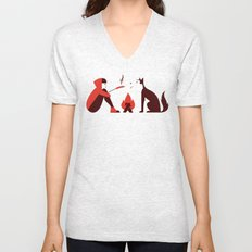 Little Red and Big Bad Unisex V-Neck