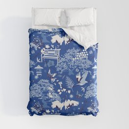 My chinese garden – my sanctuary Duvet Cover