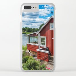 Swedish national summer house Clear iPhone Case