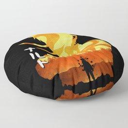 Minimalist Silhouette Hero Floor Pillow