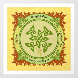 Circle of the Enlightened - Ivy Art Print
