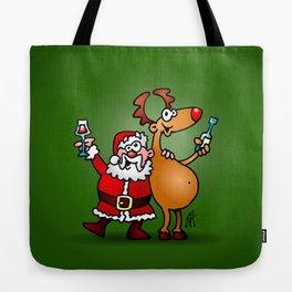 Santa Claus and his Reindeer Tote Bag