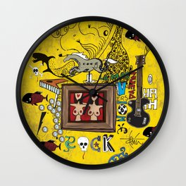 Rock and Fun Wall Clock