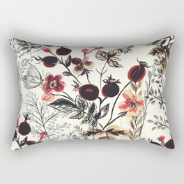 Watercolor autum berries and foliage Rectangular Pillow