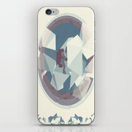 Astronaut and ice planet iPhone Skin