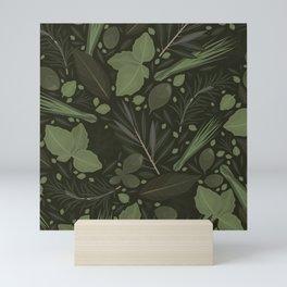 Green Herbs Spices / Olive Green Palette Mini Art Print