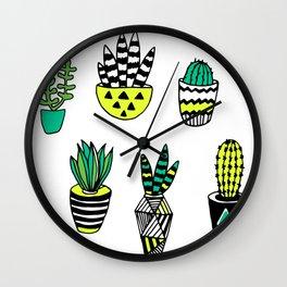 Cactus neon modern Wall Clock