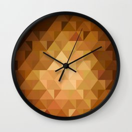 Low poly 5 Wall Clock