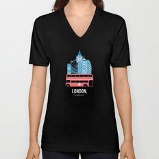 London, England Unisex V-Neck