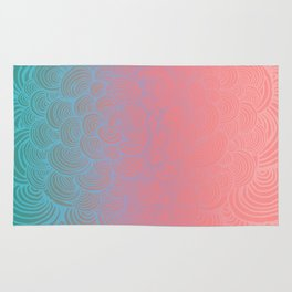Ombre Clam Shells - Mint, Peach, Purple and Pink Rug