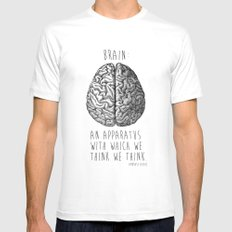 Brain White MEDIUM Mens Fitted Tee