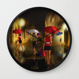 Ladies Shopping Night Wall Clock