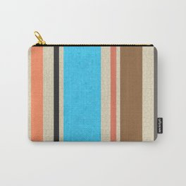 Mediterranean Beach Colours Stripe and Tile Carry-All Pouch