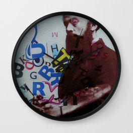 The Painter who´s looking for the right words to discribe his work - 1 Wall Clock
