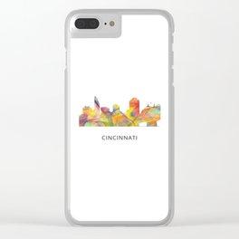 Cinncinati Ohio Skyline WB1 Clear iPhone Case