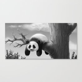 Hang In There, Panda! Canvas Print