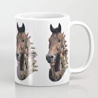 seahorse Mugs featuring Seahorse by Lerson