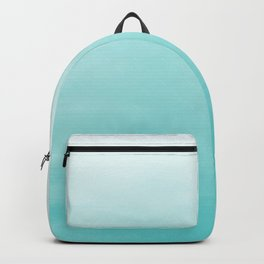 Modern teal watercolor gradient ombre brushstrokes pattern Backpack