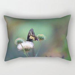 Butterfly Thistle Rectangular Pillow
