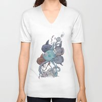 fish V-neck T-shirts featuring fish by Tanya_tk