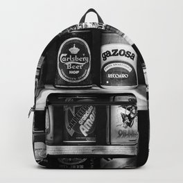 collection of old cans Backpack