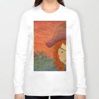 pirates Long Sleeve T-shirts featuring Pirates  by CataBeja Umaña Azul
