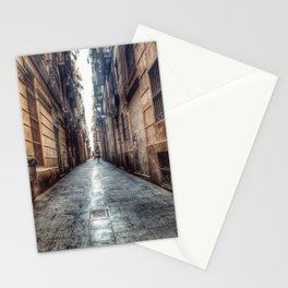 streets of barcelona Stationery Cards