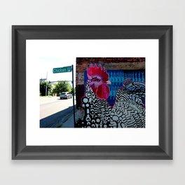 Chicken Alley Framed Art Print