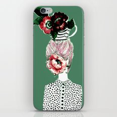 Tea Girl iPhone & iPod Skin