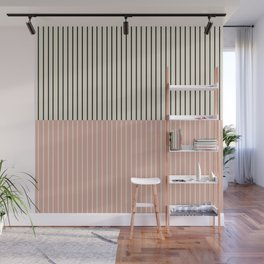 Color Block Lines XIV Vintage Pink Wall Mural