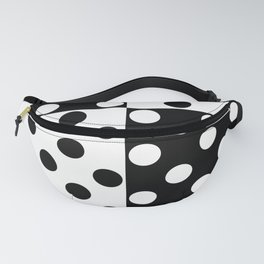 simple , black and white pattern , polka dot Fanny Pack