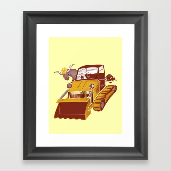 Bulldozin'  Framed Art Print