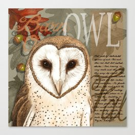 The Barn Owl Journal Canvas Print