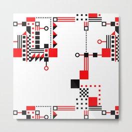 Tekno Abstrakt Metal Print