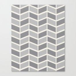 Simple Grey Chevron Canvas Print