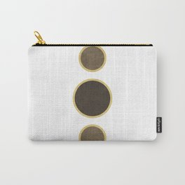 String of Pearls - Minimal Geometric Abstract - White Carry-All Pouch