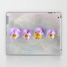 Pastel Vintage Pansies Laptop & iPad Skin