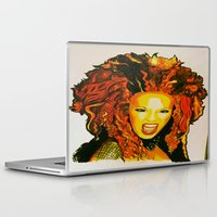 spice Laptop & iPad Skins featuring Scary Spice by The Expression Studio