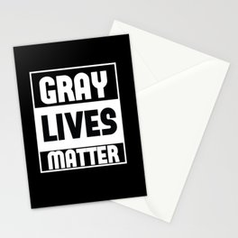 Gray Lives Matter alien space funny shirt Stationery Cards