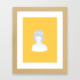Girl with wreath Framed Art Print