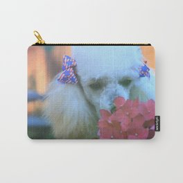 Toy Poodle in the garden Carry-All Pouch