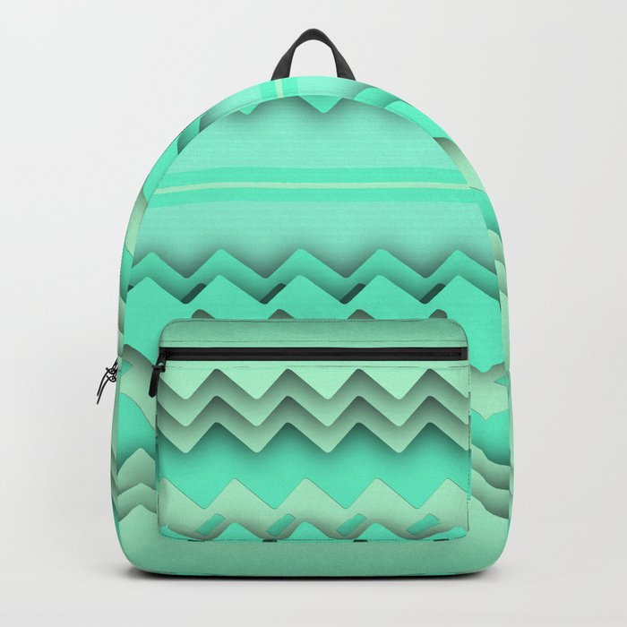 Mint paper zigzag Backpack