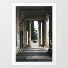 City Hall of Rome Columns Art Print