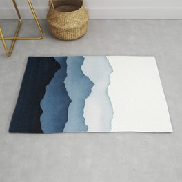 Blue Mountains in Watercolor Rug