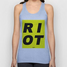 RIOT (BLACK AND YELLOW) Unisex Tank Top