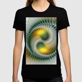 Like Yin and Yang, Abstract Fractal Art T-shirt